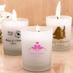 Personalized Frosted Candle Holders