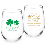 Personalized Irish Stemless Wine Glass - Exclusive