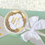 Personalized Metallic Foil Birthday Lollipop Favors