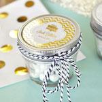 Personalized Metallic Foil Birthday Small 4 oz Mason Jars