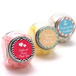 Personalized Mini Glass Wedding Candy Jar