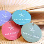 Personalized Themed Favor Hang Tags or Labels - 12 pcs