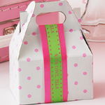 "5/8"" Personalized Satin Polka Dot Ribbons - 10 yds"