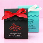 Las Vegas Personalized Scalloped Favor Bags