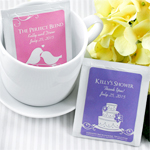 Personalized Silhouette Tea Bag Favor
