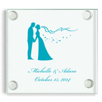 Personalized Square Glass Coaster - Exclusive