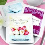 Personalized Tea Wedding Favors