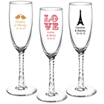 Personalized Twisted Champagne Flute Wedding Favor