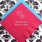 Personalized Wedding Napkins - 50 pcs