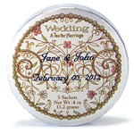 Personalized Wedding Tea Tins - 20 pcs