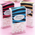 Personalized Zebra Tic Tac Favor