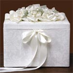 Petite Brocade Wedding Card Box