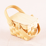 Wood Picnic Wedding Favor Baskets - 6 pcs