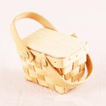 Wood Picnic Wedding Favor Baskets - 6 pcs