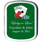 Playing Cards, Dice and Chips Personalized Mint Tins