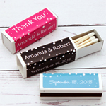 Polka Dots Personalized Lipstick Matchboxes - 50 pieces