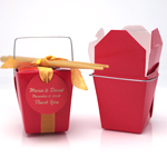 Red Chinese Take Out Box - 12 pcs