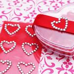 Love Rhinestone Stickers - 40 pcs