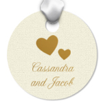 Round Personalized Wedding Hang Tags