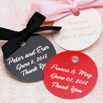 Round Personalized Hang Tags