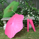 Scalloped Paper Parasols