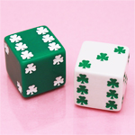 Shamrock Dice Wedding Favors