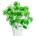 Shamrock Lollipop Favor - 10 pcs