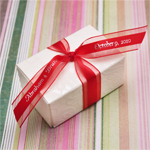 Satin Centered Sheer Personalized Ribbon - 50 pcs