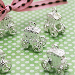 Silver Plated Carriage Charms - 8 pcs