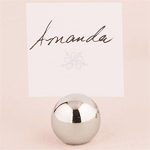 Silverplated Ball Place Card Holder - 8 pcs