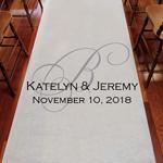 Initial Elegance Personalized Wedding Aisle Runner