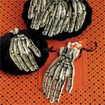 Skeleton Hand Cello Treat Bags