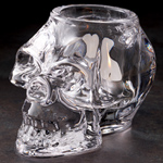 Skull Glass Candle Votive Holder