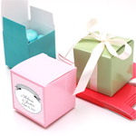 Solid Color Square Favor Boxes - 100 pcs