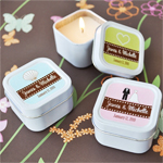 Square Personalized Candle Tins