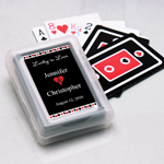 Suit in Love Personalized Playing Cards