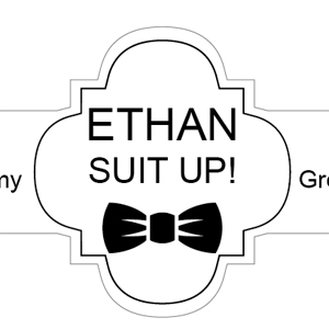 Suit Up! Personalized Cigar Band Labels - 6 pieces