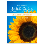 Sunflower Save the Date Magnets - 20 pcs