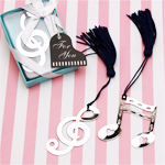 Musical Notes Bookmarks Favors