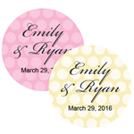 Polka Dots Personalized Round Labels - 20 pcs