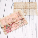 Sinamay Envelopes with Twine String - 10 pcs