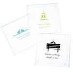 Love Birds Personalized Glass Coasters