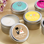 Personalized Wedding Travel Candle Favor