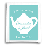 Teapot Silhouette Personalized Tea Bag Favor