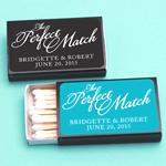 """The Perfect Match"" Black Matchboxes - 50 pcs"