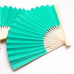 Tiffany Blue Paper Hand Fans