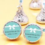 Tiffany Blue Personalized Hershey's Kisses