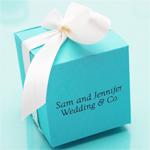 Bride & Co. Personalized Square Favor Box