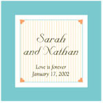 Tiny Hearts Square Personalized Labels - 12 pcs