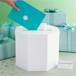 Martha Stewart� White Eyelet Gift Card Box